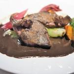 ル ボークープ - ピジョンラミエ 胸肉のサルミソース