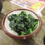 七輪焼肉 安安 - ほうれん草ナムル