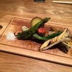 ドンナゴロージ - 2016.12.夜。野菜のグリル。美味