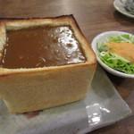 カフェ 呂久呂 - カレージャンボトースト 650円