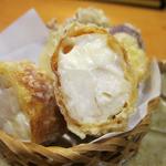 日本料理 旬坊 - 帆立しんじょう銀杏チーズ揚げ