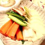 45435734 - 宴会料理…お新香(ニンジン•セロリ•ゴボウ•きゅうり•大根•カブ)