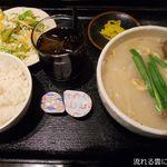 居酒屋 暁 - 牛テールスープ定食