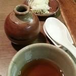 七福 志な乃 - 猪口、薬味、れんげ 2015.12