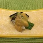 八光亭 - 茄子と椎茸、万願寺の甘味噌