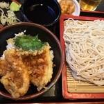 そば処 ゆう月 - キス天丼セット 900円