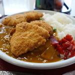 味よし味二番  - 料理写真:Wのカツカレー・・質より量。