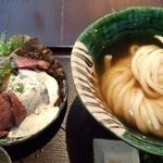 45442063 - ひやかけ&ローストビーフ丼セット
