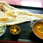 インドネパール料理 ぱーるばてぃ - 15分待って 出てきたナンがこれ、、、