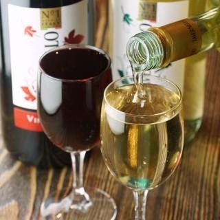 乾杯スパークリング、なみなみグラスワインが390円!!