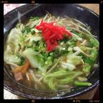 琉球 - 野菜そば 830円