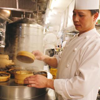 上海点心師が手作りする飲茶
