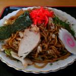 浅野食堂 - 焼きそばラーメンの麺と具