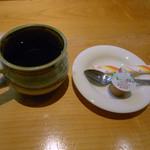 すし魚菜 かつまさ - サービスの?コーヒー