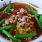 中国四川料理 龍府 - レバニラとセットの担々麺