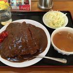 めん工場 - 料理写真:チキンカツカレー(ハーフ)¥730