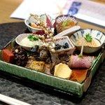 魯忍 - 前菜:なます、金時、蛸、鴨、田楽、ばい貝、