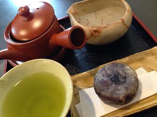 喫茶森 - きんつばセット ¥800