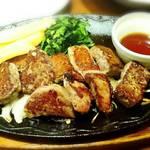 デニーズ - 大盛り  牛カットロースステーキ