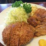 キッチンニュー南海 - 日替り定食=メンチカツ&鳥のソテー(760円)