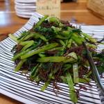 森の家庭料理レストラン - 青菜にふのり