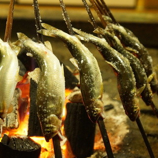 揖斐川丘苑 - 料理写真:若鮎の塩焼き!