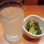 たこ焼き マン福 - 乾杯セット 500円(税込)(2015年12月4日撮影)