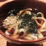 ろばた焼司 - 焼き豚定食 (小うどん)
