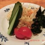 ろばた焼司 - コロッケ定食 (サラダ)