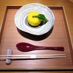 栞庵 やましろ - 鱈の白子、葱、柚子、出汁の葛あん