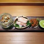 栞庵 やましろ - 兵庫県ずわい蟹の雌  内子と味噌、身、外子   兵庫県ずわい蟹の雌  内子と味噌、身、外子