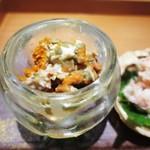 栞庵 やましろ - 兵庫県ずわい蟹の雌  内子と味噌、身、外子   兵庫県ずわい蟹の雌  内子と味噌