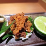 栞庵 やましろ - 兵庫県ずわい蟹の雌  内子と味噌、身、外子   兵庫県ずわい蟹の雌  外子
