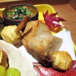 栞庵 やましろ - 海老芋、くわいの揚げ物