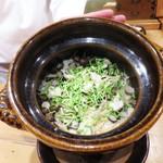 栞庵 やましろ - ムカゴと生姜ご飯