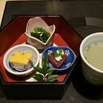 45477268 - 水炊き御膳 前菜3種&水炊きスープ