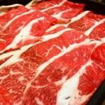 どん亭 - 料理写真:極上牛ロースコースの肉