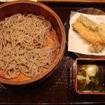 薫風 梅み月 - 十割蕎麦、天麩羅、温泉卵入り蕎麦つゆ