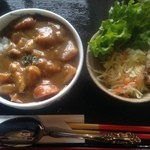 カフェ月星 - 2015/12/13  ワンコインランチ。 ¥500 上林のお野菜のミニカレー 肉、魚は入っていませんが満足度高し。