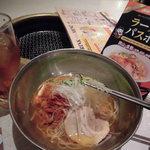 45483036 - 大阪鶴橋冷麺と烏龍茶で500円