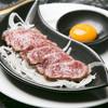 ・和牛ローストビーフのユッケ950円