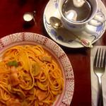 喫茶アン - ランチセット ナポリタン+コーヒー+サラダ  ¥850