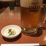 八仙閣 - ビール(突出し付き)
