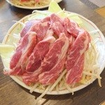 遠野屋 - 上ラム定食の肉と野菜