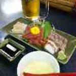 漁美 - 料理写真:茶碗蒸しの突き出しと、刺身盛り