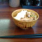 麺や ようか - 小ご飯100円。