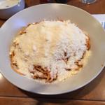 45492511 - スパゲッティ 粉チーズ投入後