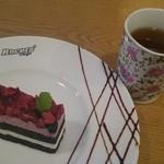 レーサーズカフェ - ケーキセットがランパスで500円