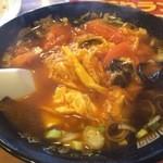 45494154 - 玉子とトマト刀削麺
