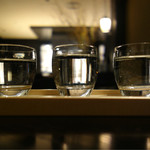 京都 中之光庵 - 松本酒造飲み比べ 3種 980円